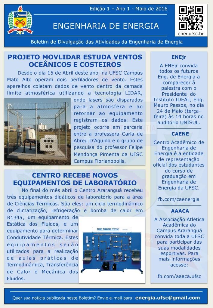 Boletim ENE Edição 01-2016